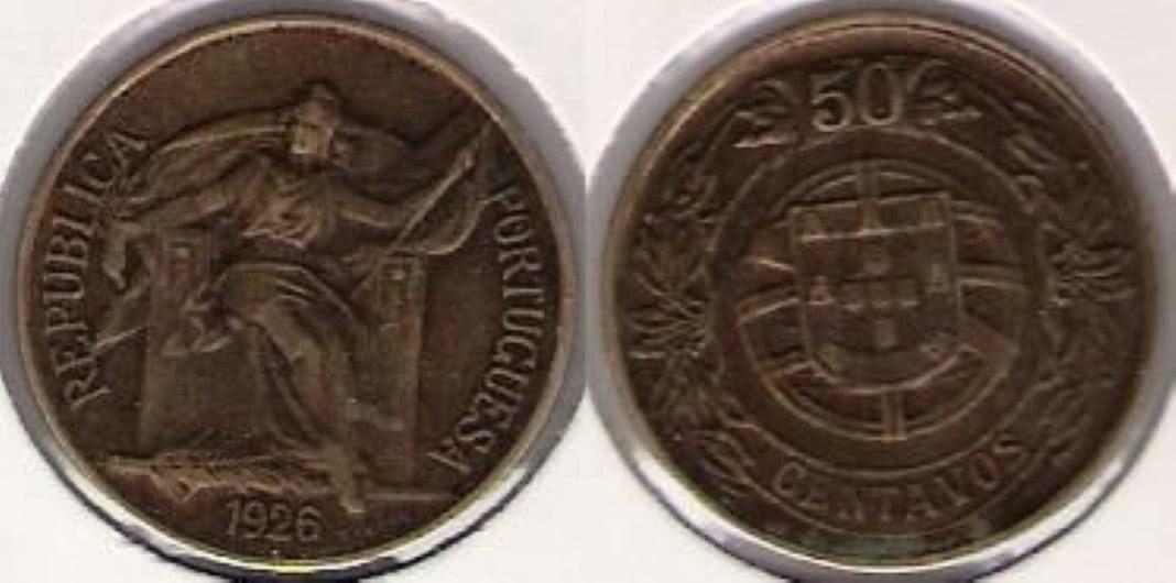 moedas em escudos