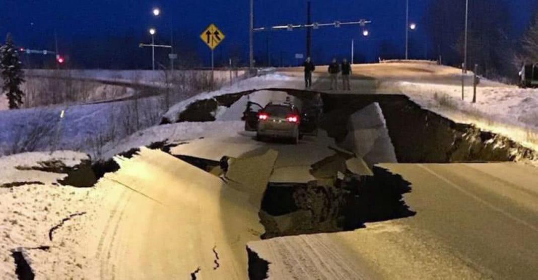 terremoto que atingiu o Alasca