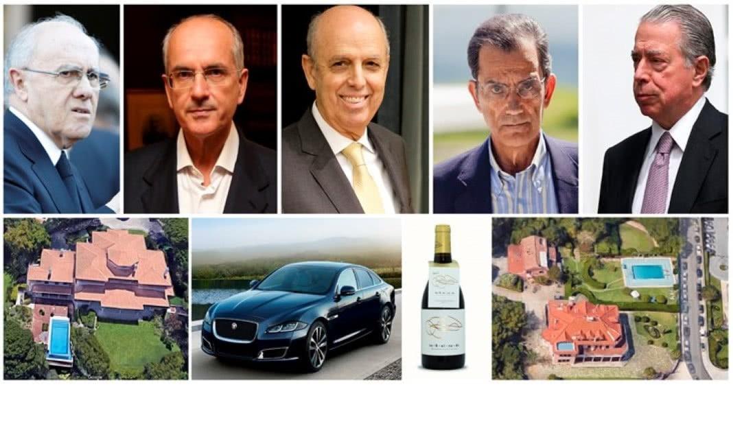 A vida de luxo dos banqueiros