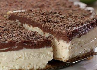 Deliciosa torta de limão com chocolate