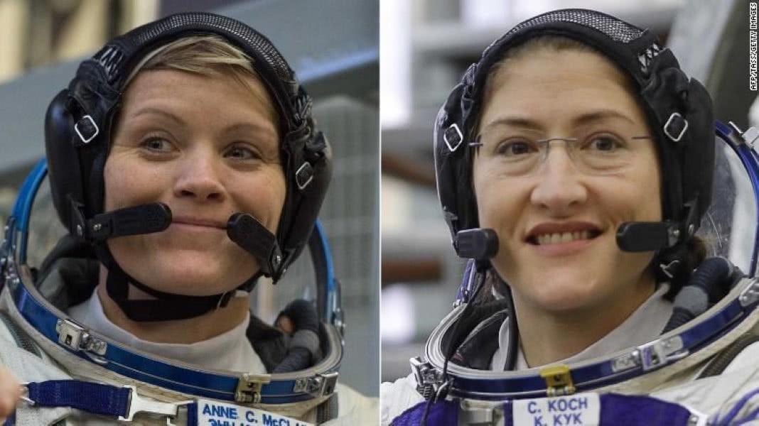 primeira missão espacial apenas com mulheres