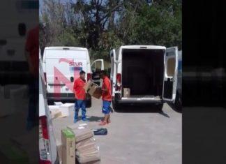filmados aos pontapés em encomendas