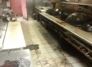 A falta de higiene de um restaurante