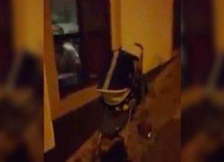 Bebé é deixado à porta