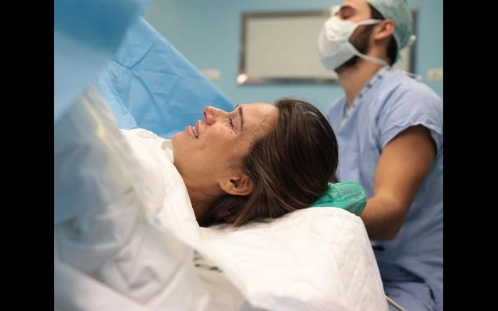 Cláudia Vieira após o nascimento da filha