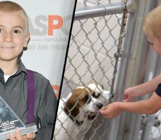 Menino recebe prémio da ASPCA