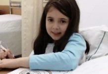 Menina de 8 anos com leucemia