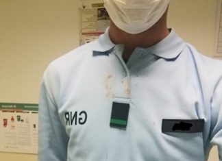 GNR agredido com garrafa