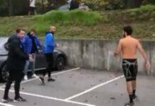Fernando Madureira 'macaco' filmado em combates de rua.