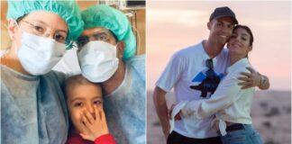 Ronaldo e Georgina ajudam menino