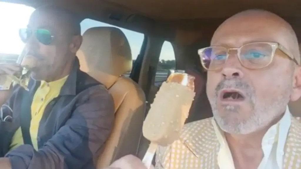 Goucha come um gelado com Rui Oliveira