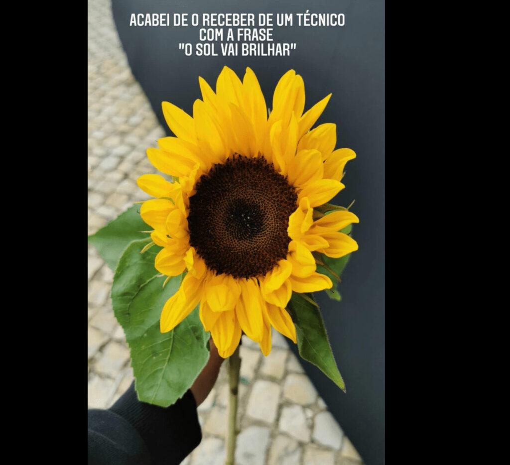 Cristina Ferreira recebe flor